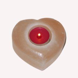 Salt Candle Holder Heart