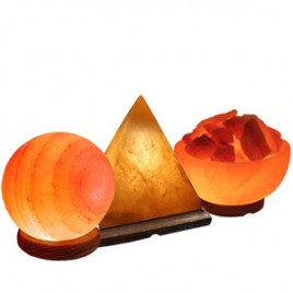 Shaped Salt Lamps (Globe,Pyramid,Bowl)