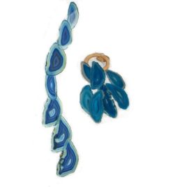 Agate Wind Chime Large Blue