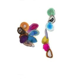 Agate Wind Chime Large Multi