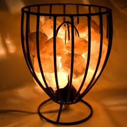 Himalayan Salt Basket Lamp