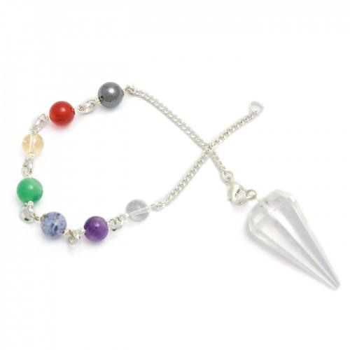 Chakra Pendulum - Clear Quartz