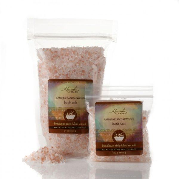 Kuumba Made Amber & Sandalwood Bath Salt - Small 5oz