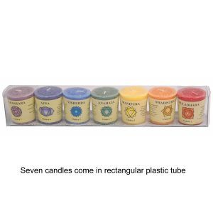 7 Chakra Candle Set - with Essential Oils