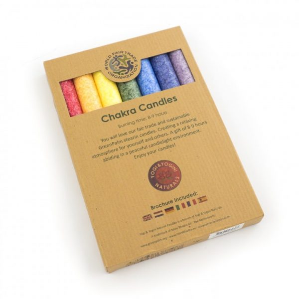 Set of 7 Chakra Dinner Candles - Scented